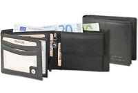 Rinaldo® Herren Geldbörse im Querformat in Schwarz aus feinem Nappa Leder