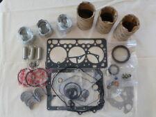 Kubota D902 Overhaul / Rebuild Kit (Pistons Rings Liners Bearings Gasket Set)