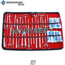 172 Pc Us Military Field Minor Surgery Veterinary Dental Instrument Kit Ds 1103