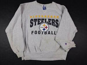 Vtg 90s Pittsburgh Steelers NFL Champion 1995 Crewneck Sweatshirt XL
