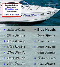 Größen Bootsbeschriftung Bootskennzeichen Wunschschrift Farbwahl versch