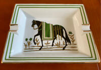 HERMES Paris Ashtray Ash Tray Plate Horse Pattern Accessory Japan F/S USED