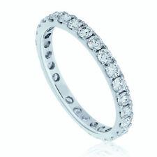 Anillos de joyería con diamantes naturales de platino