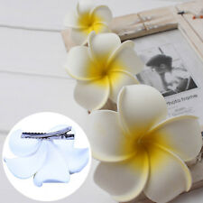 6 x Hawaiian Flower Hair Clips Bridal Barrette Headdress Tropical Beach Wedding