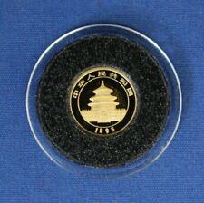 1995 China 1/20oz Gold Panda coin Capsule with COA