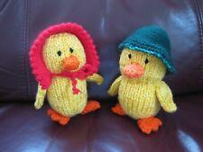 Carefully Hand Knitted Mr & Mrs Duck