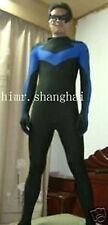 Fantastic!!! lycra spandex zentai superhero halloween costume nightwing S-XXL