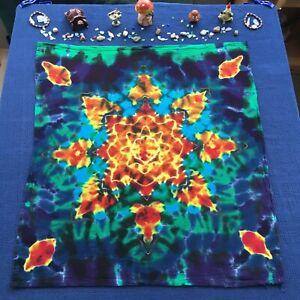 Handmade Tie Dye  Tapestry /Body Wrap / XL Bandana  on 100% Soft Cotton