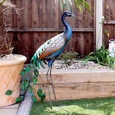Paon Décoration Jardin Extérieure Métal fait à la main Primus pq1505 NEUF