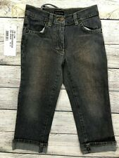 NWT Fornarina Glitter Sparkle Cuffed Jeans Stretch Girls Size 4 4T NEW N15