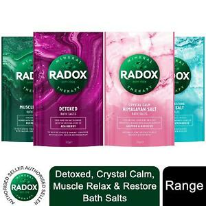 4x of900g Radox Mineral Therapy Muscle Relax, Restore, Detox, or Calm Bath Salts