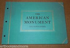 LEE FRIEDLANDER The American Monument 1st/1st 1976, 1 of just 2000 printed RARE!