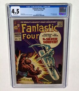 Fantastic Four #55 CGC 4.5 KEY! (Silver Surfer vs.Thing! Lockjaw!) 1966 Marvel