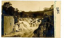 Wappingers Falls NY - VIEW OF LOWER FALLS & STONE BRIDGE - RPPC Postcard