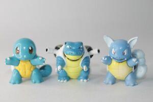 Pokemon SQUIRTLE WARTORTLE BLASTOISE - Nintendo TOMY Figures