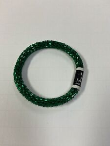 """Lily and Laura """"Forest Green"""" Beaded Stretch Bracelet"""