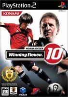 PS2 World Soccer Winning Eleven 10 PlayStation 2 Japan F/S