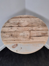 Rustic dining table, round table