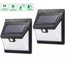 40 LED Solar Power PIR Motion Sensor Wall Lights Outdoor Security Lights /2 Pack