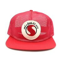 VTG Safeway Snapback Hat Trucker Mesh Cap Logo Patch Embroidered Red Semco USA