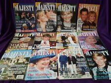 Majesty Magazine Volume 20, 12 original issues from 1999, British Royal Family