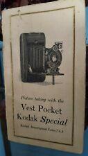 VEST POCKET KODAK SPECIAL - ANASTIGMAT F.4.5 - INSTRUCTION BOOK