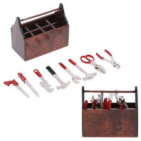 1Set 1:12 Dollhouse Miniature Toolbox Handmade Dolls House Accessories Tools  ^F