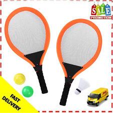 Kinder Badminton Set 5x Federball Spiel Tennis Schläger Federballschläger+Tasche