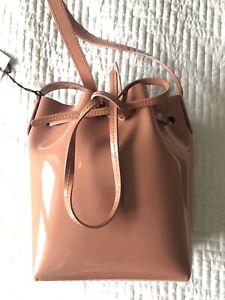 Mansur Gavriel Bucket Bag Mini Mini Patent Blush Pink Brand New With Tags