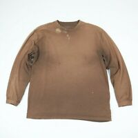 Sun Faded Bleach Distressed Plain Blank T-Shirt Grunge Skate Brown Oversized L