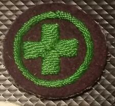 1912-1918 Girl Scout UK Guides WHITE FELT Badge WWI era CHILD NURSE