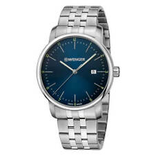 Wenger Men's Watch Urban Classic Blue Dial Silver Tone Bracelet 01.1741.123