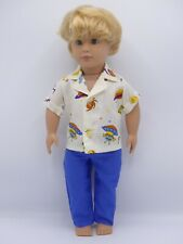 Dolls clothing to fit RAFAEL OUR GENERATION Doll 18in.Patterned shirt & trousers