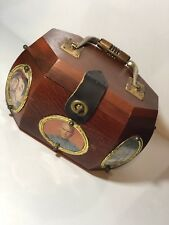 VINTAGE RARE GO PRODUCTS ST. LOUIS MO HAND MADE USA WOOD OCTAGON MUSHROOM PURSE