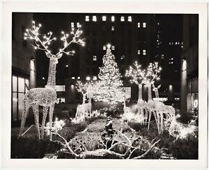 SUPER Orig Photo Rockefeller Center New York NY Christmas 1950 Edward Ratcliffe