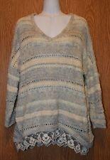 Womens Soft Fuzzy American Rag Cie Semi Sheer Sweater Size Small NWT NEW $89