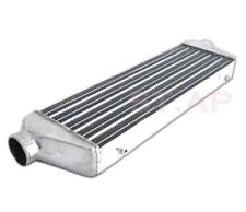 "Diy Custom 28"" X 7"" X2.5"" Fmic Tube And Fin Front Mount Turbo Intercooler Chrome"