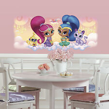 SHIMMER AND SHINE Glitter WALL DECALS MURAL Giant Nahal Tala Genie Decor Sticker