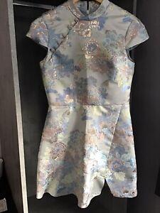 Gorgeous MISS SELFRIDGE DRESS SIZE 10, Chinese Style, Mandarin Collar, NEW