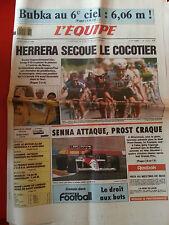 journal  l'équipe 11/07/88 CYCLISME TOUR DE FRANCE 1988 HERRERA BAUER SENNA