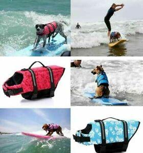 PET DOG LIFE JACKET PET SAFETY REFLECTIVE PROTECT VEST BUOYANCY FLOTATION AID AU