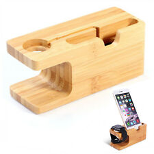 Wood Charging Dock Station Charger Stand Holder For Apple Watch iWatch iPhone