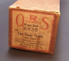 Player Piano Roll Two Sleepy People  ORS 6935 Word Roll  Thanks for the Memory