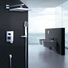 Bathroom Rainfall Shower System with Shower Head Hand Shower Faucet Valve Set