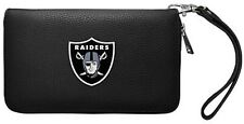 Oakland Las Vegas Raiders Ladies Wallet Clutch Zip Organizer NEW FREE SHIPPING