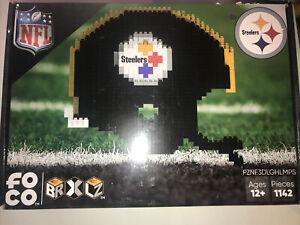 NFL FOCO 3D BRXLZ Steelers Extra Large Helmet Building Set - New / Sealed