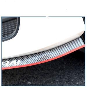 Universal 2.5M Carbon fibre Car Front Lip Protector  Front Bumper Spoiler Side