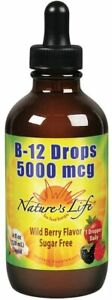 Nature's Life B-12 Drops, Methlycobalamin, 4 oz