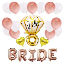 28Pcs Set I Do Diamond Gold Silver Letter Foil Wedding Party Balloons Banner Set