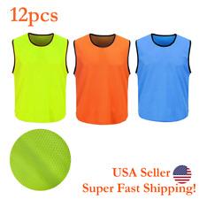 DH Scrimmage Training Vest Soccer Team Gym Set of 12 pcs Various Colors Men Size
